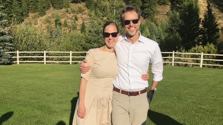 Sarah Sentilles and husband