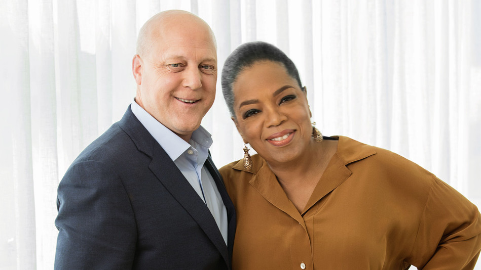 Mitch Landrieu with Oprah Winfrey