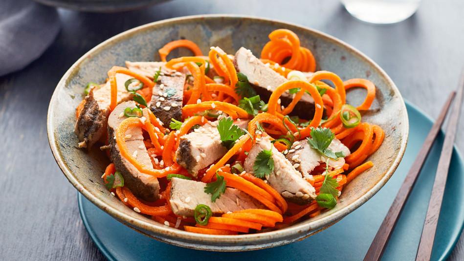 asian pork noodle bowls