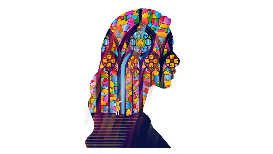 Religious silhouette illustration