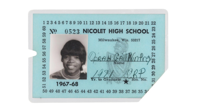 Oprah high school id card