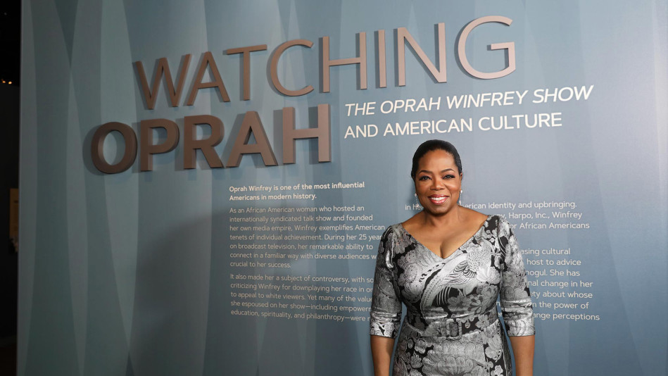 Oprah at the National Museum of African American History and Culture in Washington D.C.