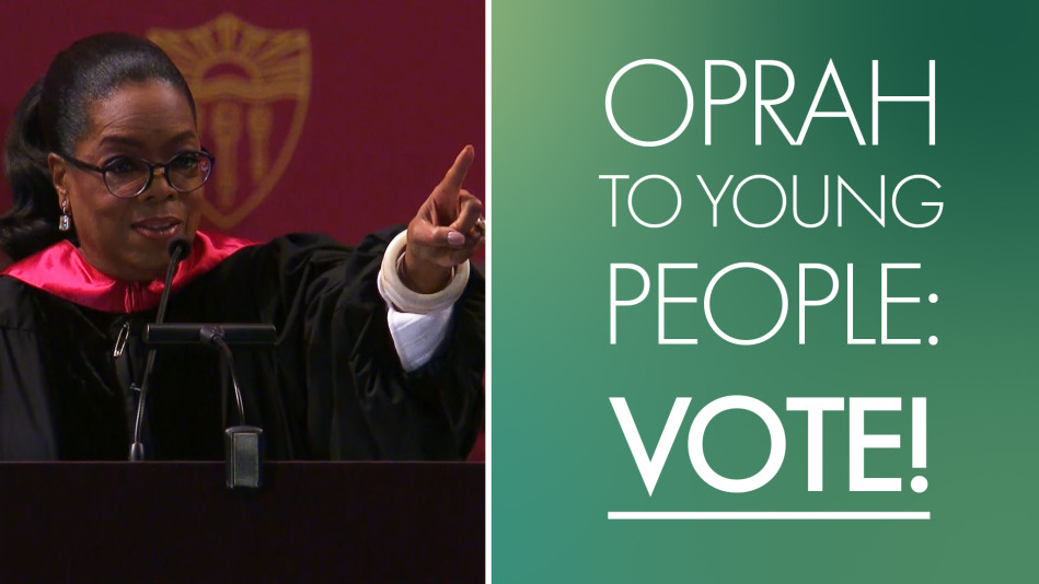 Oprah Encourages Young People to Vote