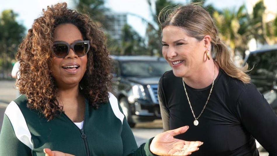 Oprah Winfrey and Jenna Bush Hager