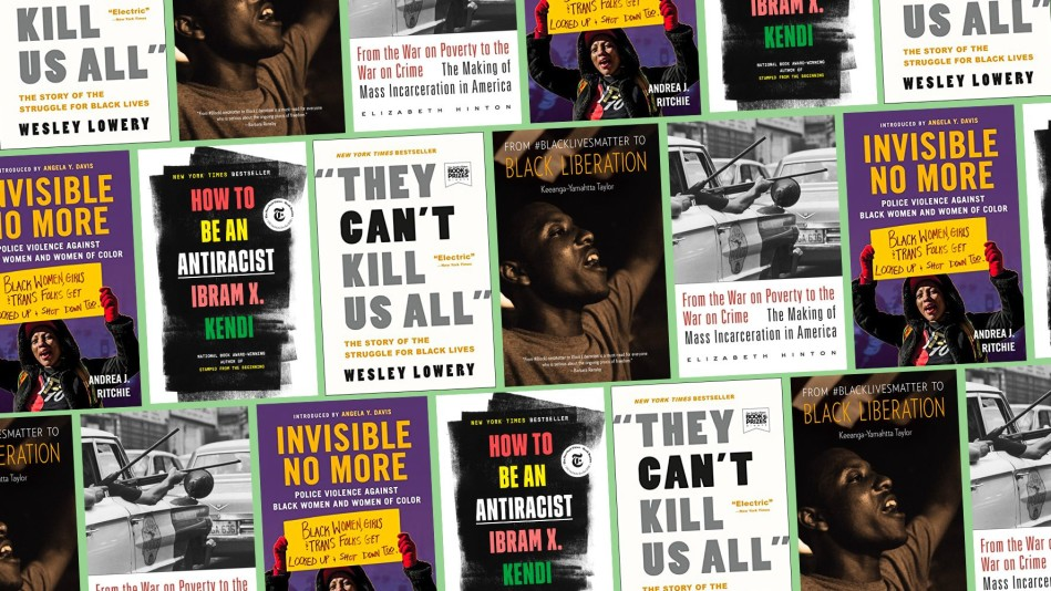 Composite Image of Books About Racism
