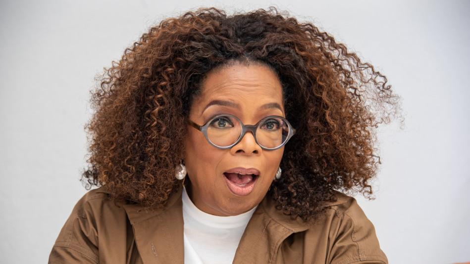 Oprah at a 'David Makes Man' Press Conference, 2020
