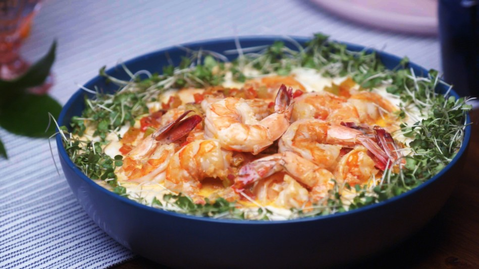 Chef Lovely Makes Shrimp and Grits