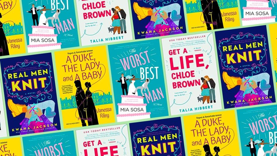 Composite image of Black romance novel covers