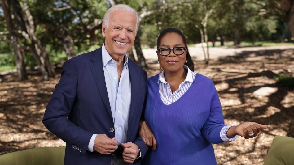 Joe Biden and Oprah on 'Super Soul Sunday' in 2017