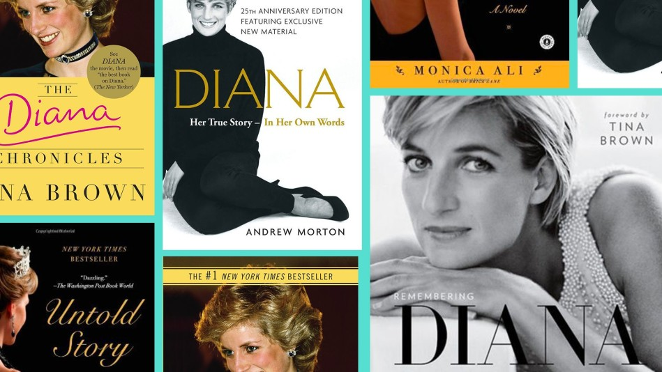Covers of books about Princess Diana