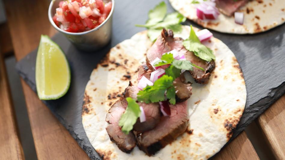 Soy-Pineapple Flank Steak Tacos Recipe
