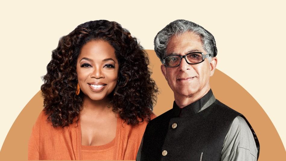 Oprah Winfrey and Deepak Chopra