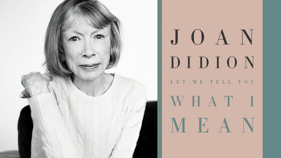 Black-and-white portrait of author Joan Didion