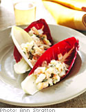 Shrimp Salad in Endive and Radicchio Spears