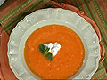Carrot-Ginger Soup with Minted Yogurt