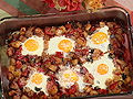 Baked Eggs with Garden Vegetable Hash