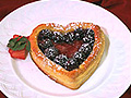 Mixed Berry Tart in Puff Pastry Heart