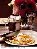 Peach Pancakes with Ginger Syrup