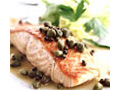 Pan-Seared Salmon with Capers and Green Peppercorns