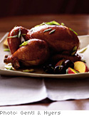 Peach and Cherry Glazed Roast Duck