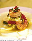 Sauteed Shrimp Salad with Ginger-Cilantro Dressing