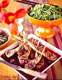 Grilled Rack of Lamb with Spring Dolma