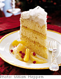 Coconut Cake with Fluffy Icing