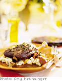 Braised Lamb Shanks with Olive Gremolata