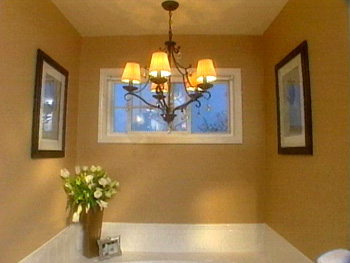 More romantic touches to a master bath.