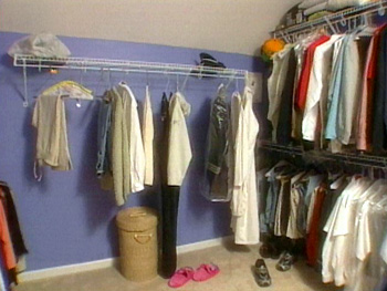 Closet organization was a big problem before Nate...