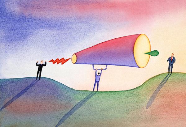Communicating through megaphone