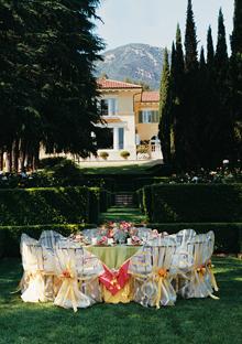 Oprah's luncheon table