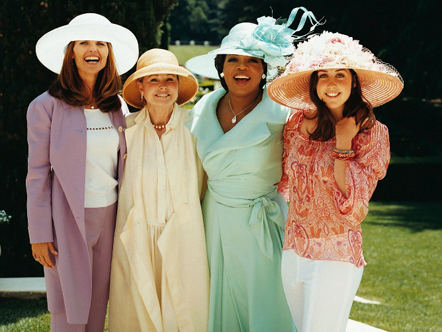 Maria Shriver, Genevieve Robert Reitman, Oprah, and Catherine Reitman