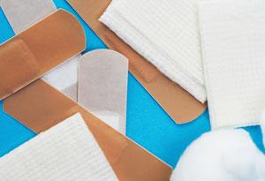 bandages and gauze