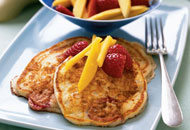 Mango-Strawberry Griddle Cakes