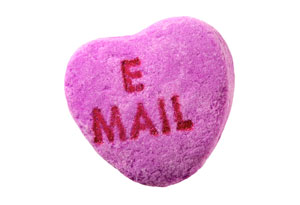 Online dating candy heart