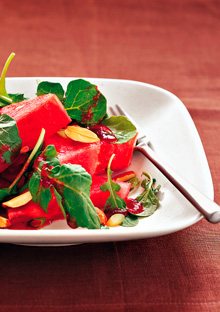 Watermelon, Arugula, and Toasted-Almond Salad
