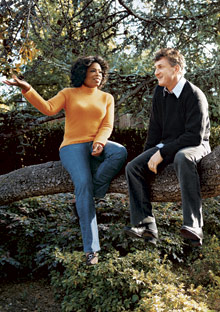Oprah and Sean Penn