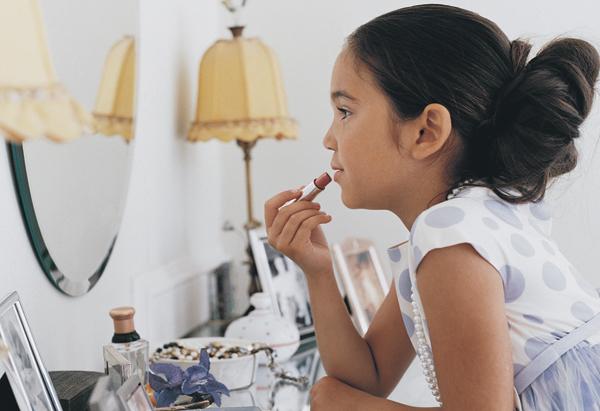Girl Putting On Makeup