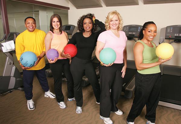 Oprah Winfrey and friends
