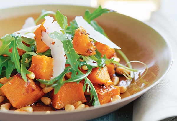 Pumpkin Salad with Pine Nuts, Pecorino and Balsamic Vinegar