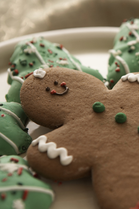 Gingerbread man and holiday cookies