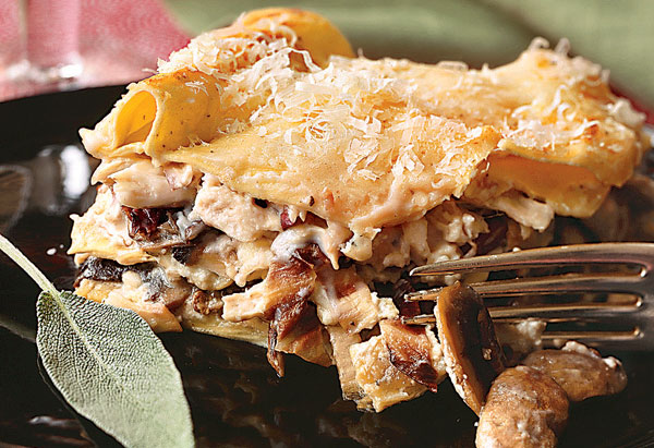 Chicken, Mushroom and Radicchio Lasagna