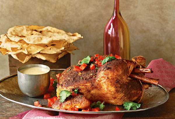 Rori Trovato's Cinnamon Curry Roasted Chicken with Tomato Yogurt Sauce recipe