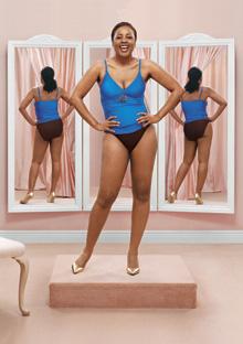 Woman modeling a swimsuit
