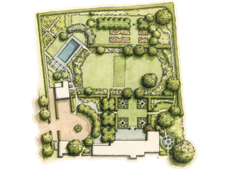 Schematic of Dianne Wallace's garden