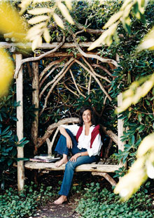 Dianne Wallace in her English garden