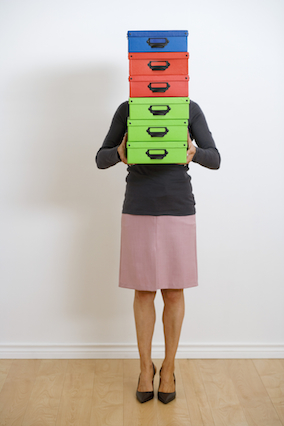 Woman with Boxes