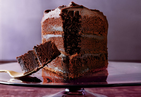 Three-Layer Chocolate Cake with Blackout Filling