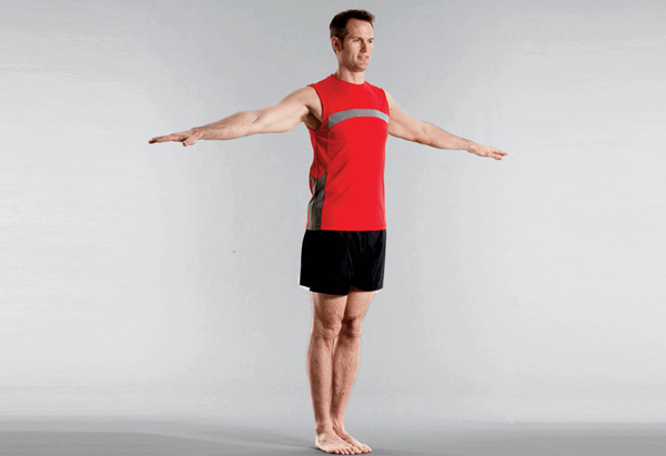 Joel Harper demonstrates the twists exercise.